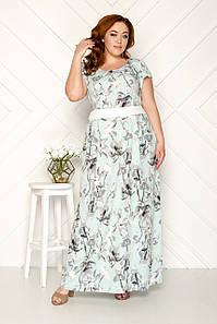 Платье женское летнее 50-56 р ( бирюзовый, розовый )