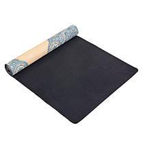 Коврик для йоги Замшевый каучуковый двухслойный 3мм Record FI-5662-15, фото 2