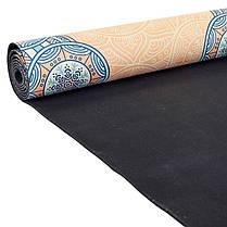Коврик для йоги Замшевый каучуковый двухслойный 3мм Record FI-5662-15, фото 3