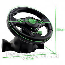 Игровой руль с педалями USB для PS2 / PS3 П.К., фото 3