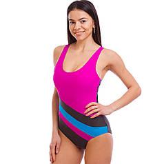 Купальник для плавання злитий жіночий 1211 розмір 38-46 (40-50) (поліамід, еластан, кольори в асортименті)