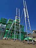 Алюминиевая трехсекционная универсальная лестница 3 х 12 ступеней, фото 2