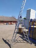 Алюминиевая трехсекционная универсальная лестница 3 х 12 ступеней, фото 6