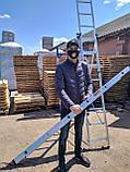 Алюминиевая трехсекционная универсальная лестница 3 х 12 ступеней, фото 7