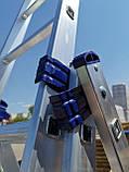 Алюминиевая трехсекционная универсальная лестница 3 х 12 ступеней, фото 8