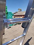 Алюминиевая трехсекционная универсальная лестница 3 х 12 ступеней, фото 9