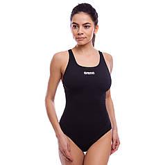 Купальник жіночий спортивний ARENA SOLID SWIM PRO AR-2A242-55 (розмір 30-40-USA, чорний)