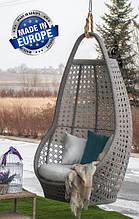 Підвісне садове крісло гойдалка кокон крапля куля плетене з ротанга Українські Конструкції Савана / Savana