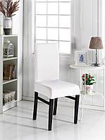 Чехол на стул универсальный белый квадратик Evibu Турция 50181