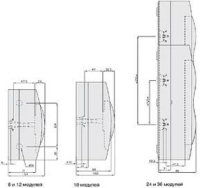 Щит навесной 24 модуля белая дверь Easy9 EZ9E212P2S (Schneider Electric), фото 2
