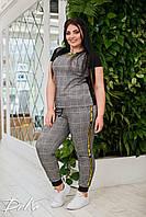 Жіночий спортивний костюм літній великий розмір 41453 (50-52,54-56) СП, фото 1