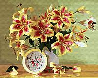 Картина по номерам. Время дарить цветы 40х50 см
