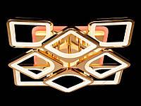 Потолочная люстра с диммером и LED подсветкой, цвет золото, 150W