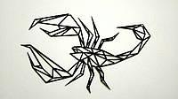 Настенное пано Скорпион. Металлический декор в стиле лофт., фото 1