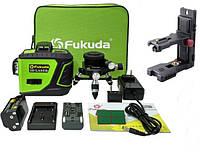 Лазерный уровень- нивелир OSRAM диоды 3D Fukuda MW-93T-2-3GX>>БИРЮЗОВЫЙ ЛУЧ>>+КРОНШТЕЙН