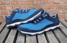 Кросівки чоловічі літні комфорт блакитна сітка, фото 3