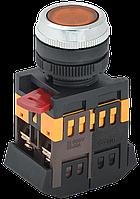 Кнопка ABLFS-22 желтый d22мм неон/240В 1з+1р IEK (BBT30-ABLFS-K05)