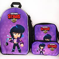Подарок ребенку: рюкзак, сумка и пенал Биби Бравл Старс! Брелок - В ПОДАРОК!