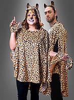 Леопардовое плюшевое пончо унисекс, фото 1