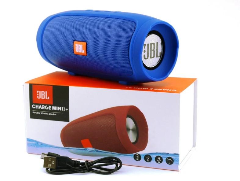 Портативная Bluetooth колонка Mini 3+ синяя