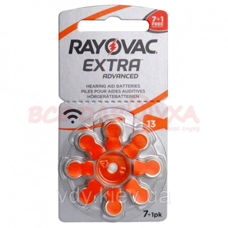 Батарейки для слуховых аппаратов Rayovac Extra Advanced 13, 7+1 шт.