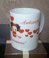 Печать на чашке (фото, надписи)