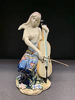 """Порцелянова статуетка дівчина """"Чарівна віолончель"""" (Pavone) JP-37/ 9"""