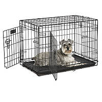 Двух дверная клетка, вольер для собак ferplast DOG-INN 75