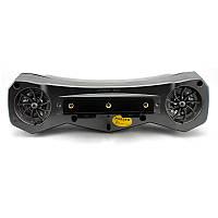 Аудиосистема траверсная (2 * 5W черные, сигнализация, МР3 / USB / SD) мото колонки, мото аудио,мото радио