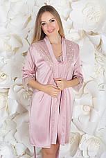 Комплект ночная рубашка + халат К930н Мокко, фото 3