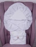"""Летний комплект для новорожденных на выписку """"Волшебство + Фрак New"""" белый с серым, фото 2"""