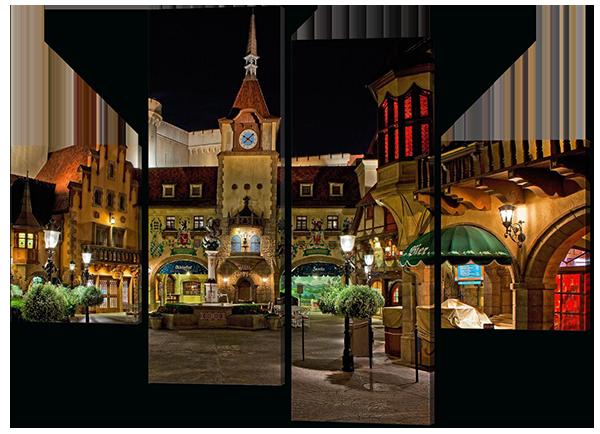 Модульная картина Дворик в Испании 126*93 см Код: W370M