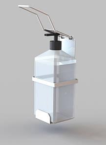 Локтевой диспенсер дозатор держатель для мыла и антисептика с 1л флаконом SK 3243-01 СБ ВП
