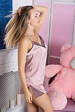 Пижама шелковая П925 Мокко, фото 3