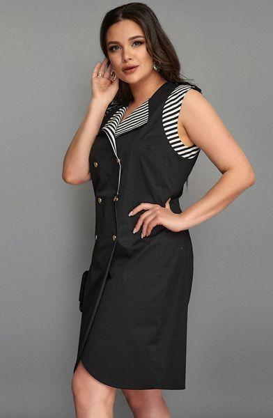 Женское летнее платье-жилет молодежное батал размеры 50-56