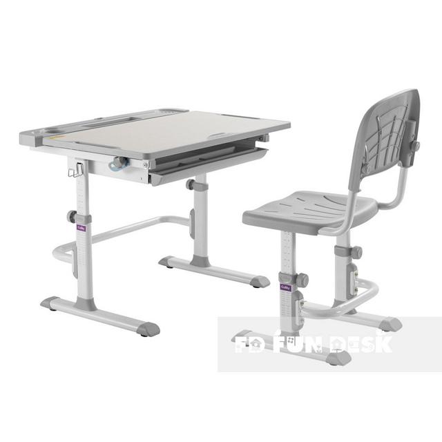 Комплект парта + стул трансформеры Cubby DISA GREY - ОПТОМ ДЛЯ ШКОЛ