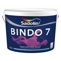 Матовая моющаяся краска для стен и потолка BINDO 7 Sadolin ( Биндо 7 Садолин ) 5л.