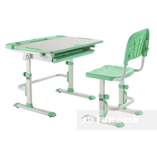 Комплект парта + стілець трансформери Cubby DISA GREEN - ОПТОМ ДЛЯ ШКІЛ