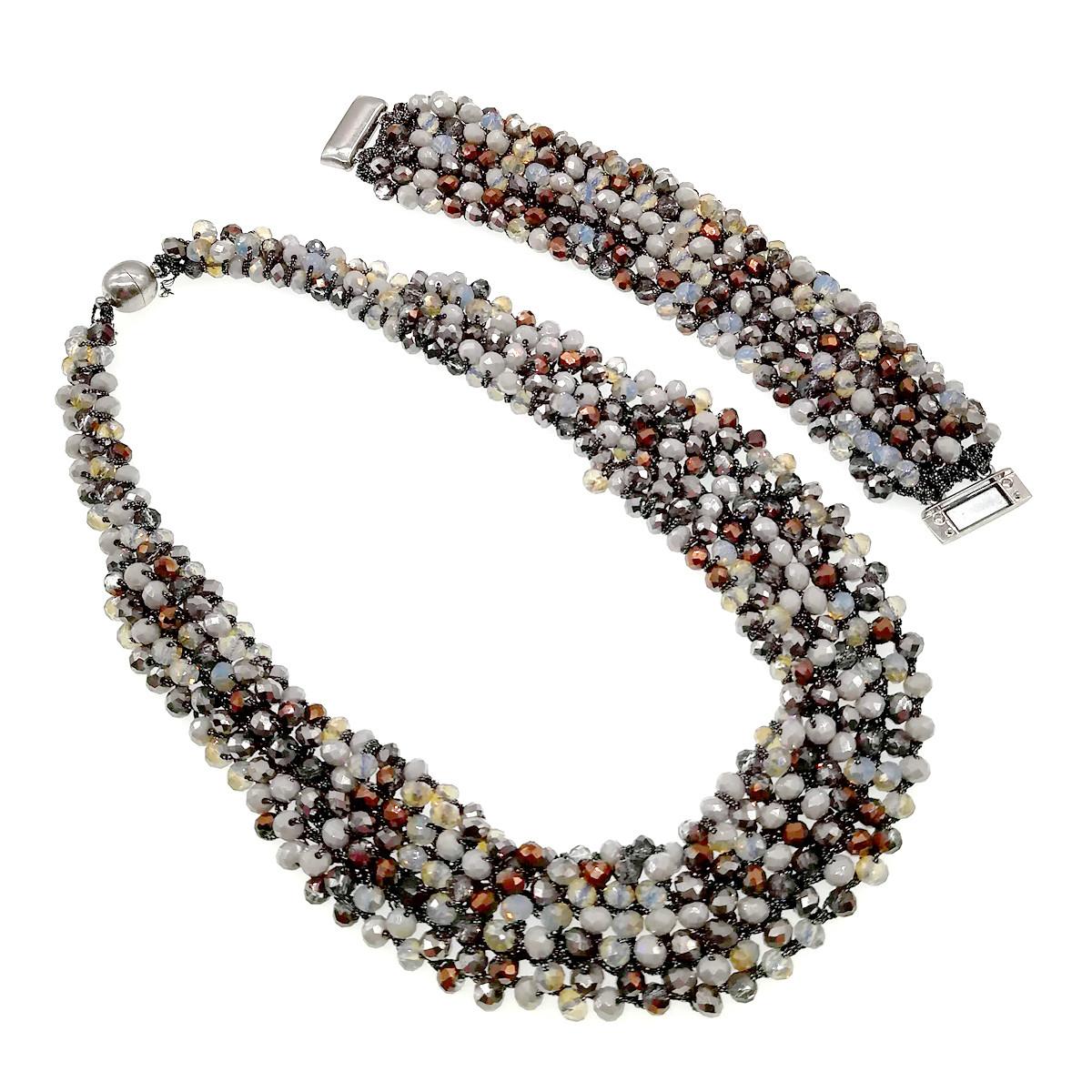 Комплект SONATA (Колье + браслет), хрусталь, 63064             (1)