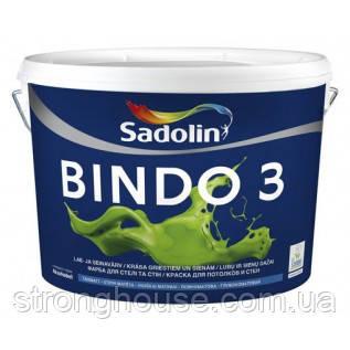 Краска глубокоматовая для потолка и стен BINDO 3 5л Sadolin ( Биндо 3 Садолин )