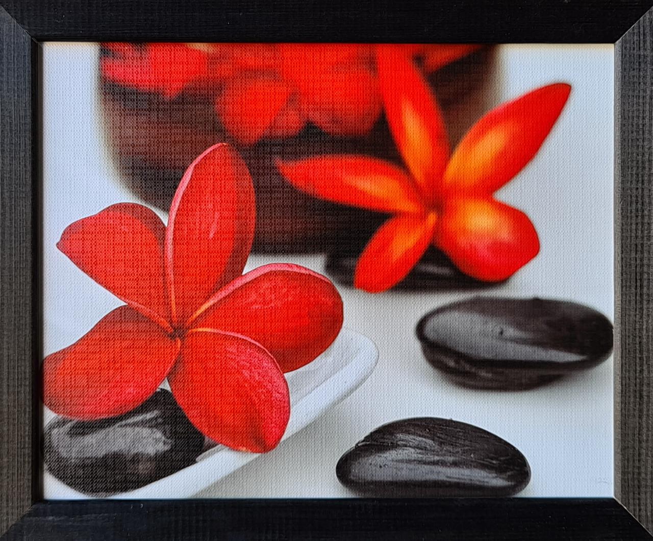 """Фотокартина в деревянной раме """"Flower and stone 4"""", 20х25 см"""