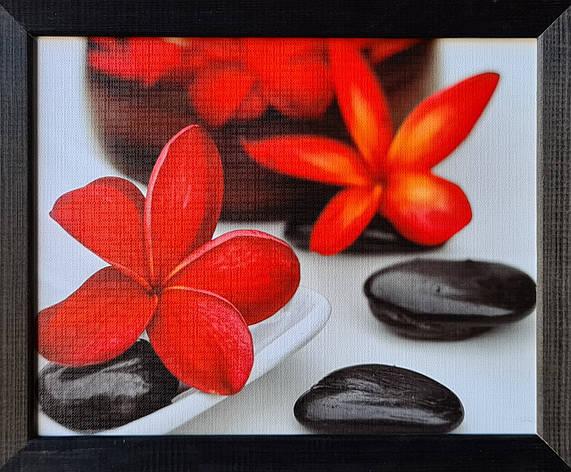 """Фотокартина в деревянной раме """"Flower and stone 4"""", 20х25 см, фото 2"""