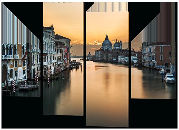 Модульная картина Город на воде Венеция 126*93 см Код: W350M