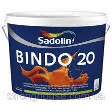 Краска Полуматовая с высокой стойкостью к мытью BINDO 20 Sadolin (Биндо 20 ) 10кг