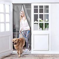 Москитная сетка на дверь магнитная 82х200 см