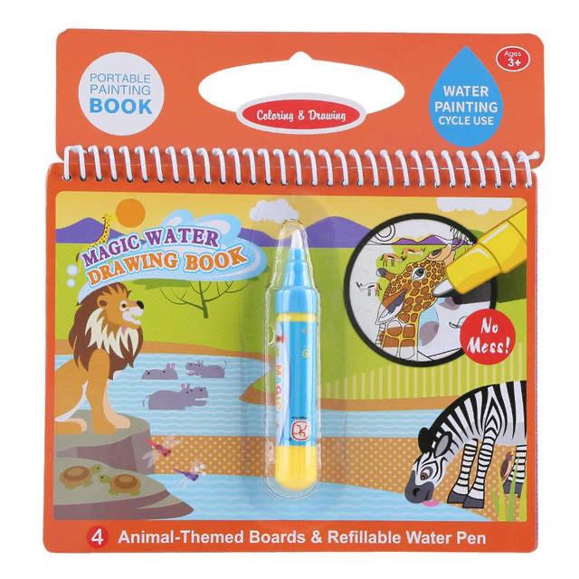 Водная раскраска для детей Magic Water. Дикие животные.