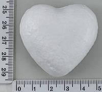 Фигура из пенопласта №10 сердечко 4,7*4,7см уп=10шт