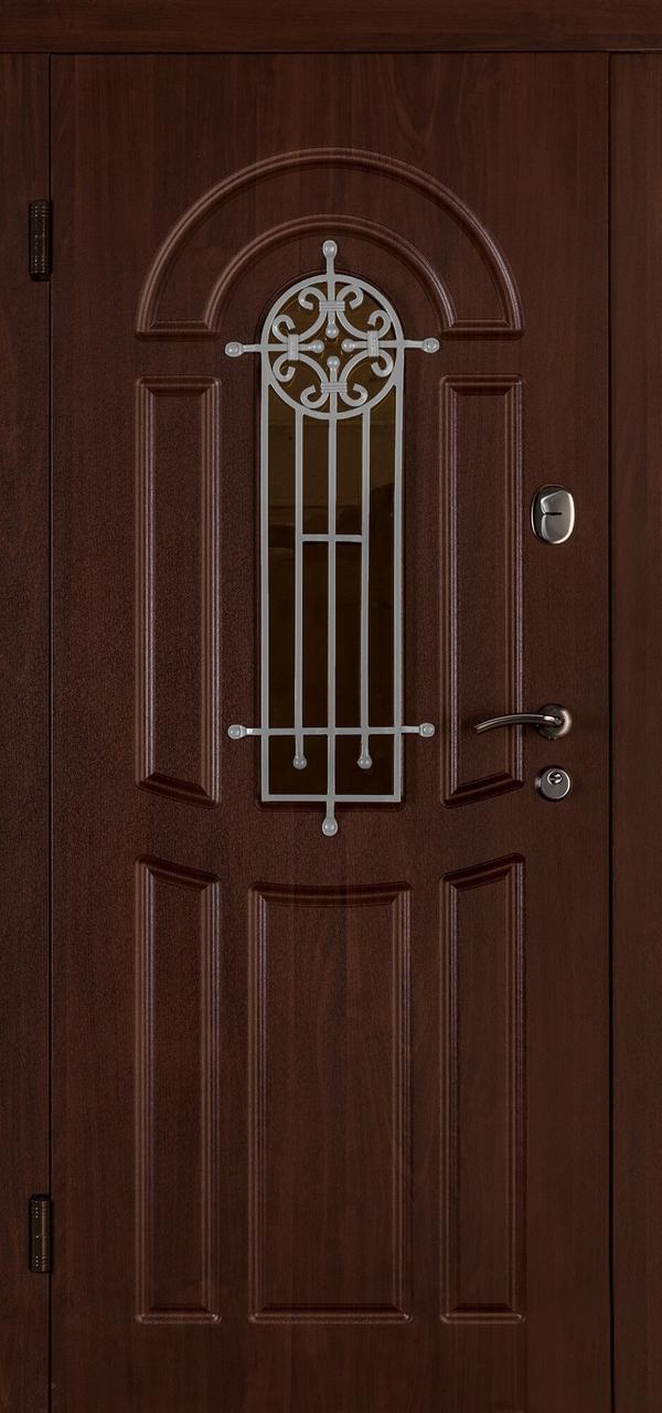 Входная дверь Флора орех коньяк