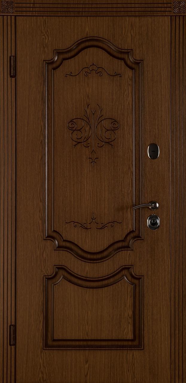 Входная дверь Престиж-В дуб темный