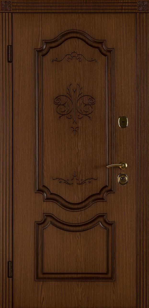 Входная дверь Престиж-В ясень декор
